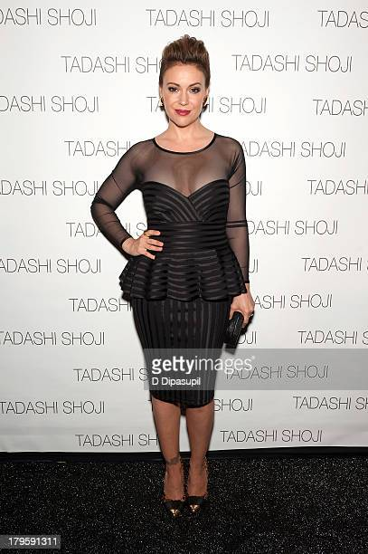 Alyssa Milano attends the Tadashi Shoji Spring 2014 fashion show at The Stage Lincoln Center on September 5 2013 in New York City