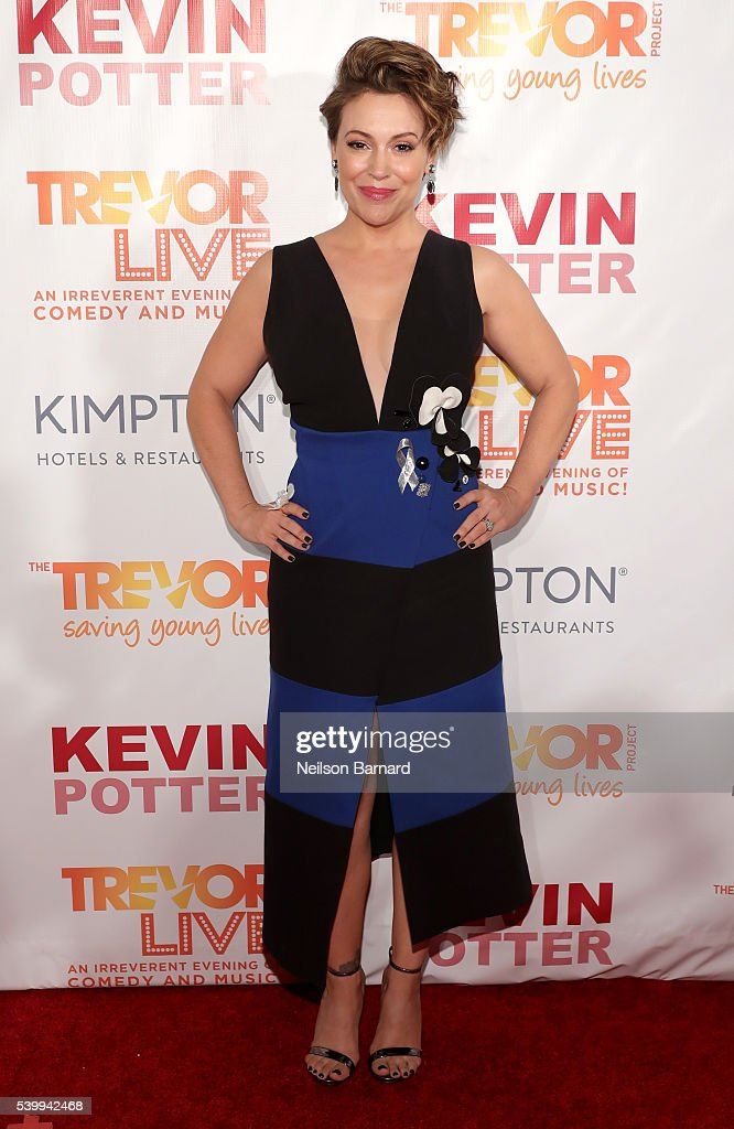 Alyssa Milano attends The Trevor Project's TrevorLIVE New York on June 13, 2016 in New York City.