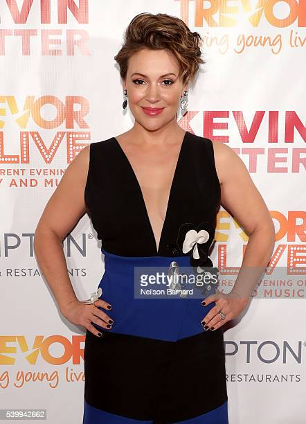 Alyssa Milano attends The Trevor Project's TrevorLIVE New York on June 13 2016 in New York City