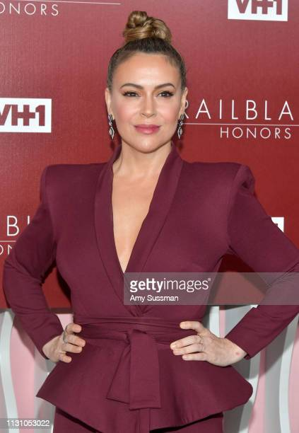 Alyssa Milano attends VH1 Trailblazer Honors at The Wilshire Ebell Theatre on February 20 2019 in Los Angeles California