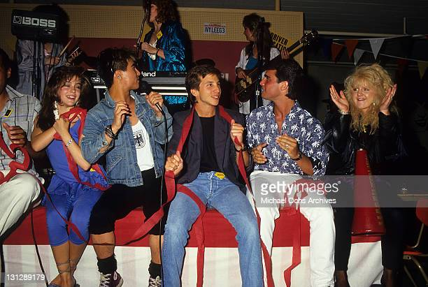 Alyssa Milano BD Wong Rob Stone Brian Bloom and Tina Yothers are part of the allstar cast from the television movie 'Crash Course' 1988