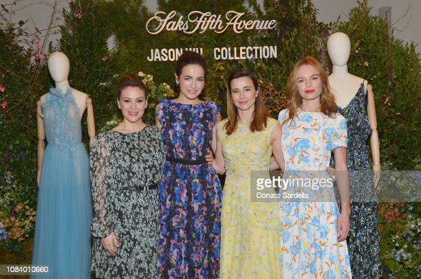 Alyssa Milano Camilla Belle Linda Cardellini and Kate Bosworth attend a luncheon hosted by Marc Metrick President of Saks Fifth Avenue and Mary...