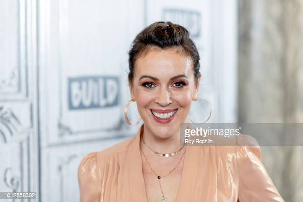 Alyssa Milano discusses Insatiable with the Build Series at Build Studio on August 7 2018 in New York City