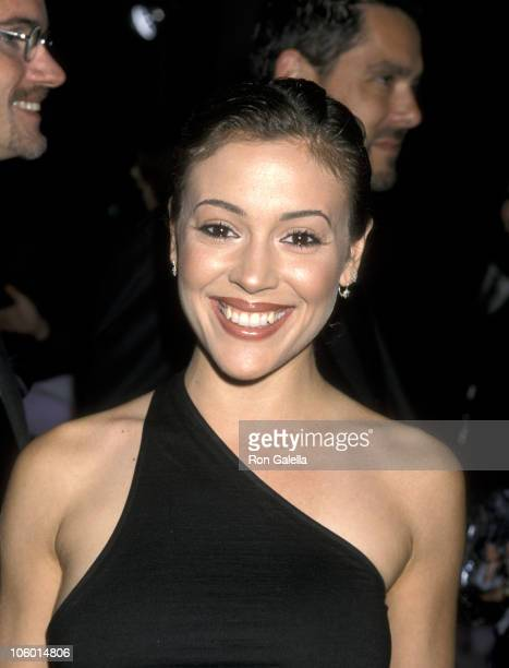 Alyssa Milano during 1st Annual MakeUp Hairstylists Awards at Beverly Hilton Hotel in Beverly Hills California United States
