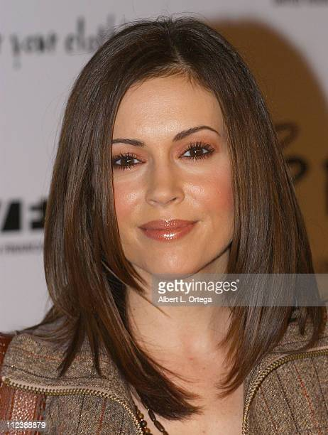 Alyssa Milano during 2 B Free's Spring 2006 Collection Arrivals at Paramount StudiosNew York Street in Hollywood California United States