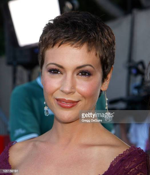 Alyssa Milano during 2003 Teen Choice Awards Arrivals at Universal Amphitheatre in Universal City California United States