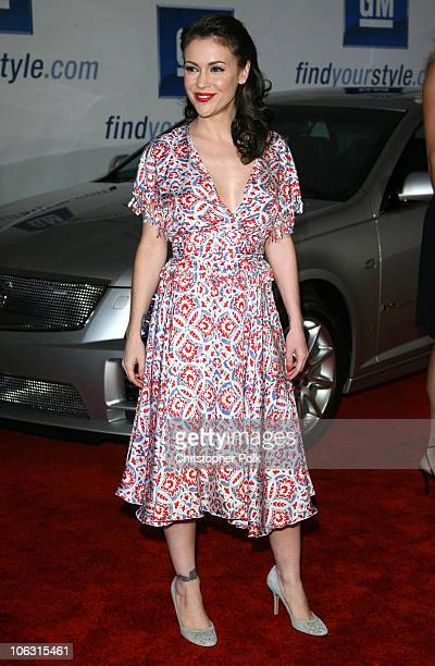 Alyssa Milano during 2006 General Motors Annual ten Celebrity Fashion Show - Arrivals at 1540 Vine Street in Hollywood, California, United States.