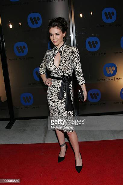 Alyssa Milano during 2006 Warner Music Group GRAMMY Arrivals in Los Angeles California United States