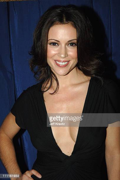 Alyssa Milano during 25th Anniversary Gala for PETA and Humanitarian Awards Backstage and Audience at Paramount Studios in Hollywood California...