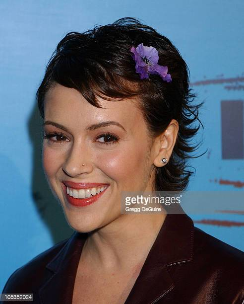 Alyssa Milano during Celebrities Supporting 'Declare Yourself' A National Nonpartisan Nonprofit Campaign Inspiring Young Adults To Participate In The...