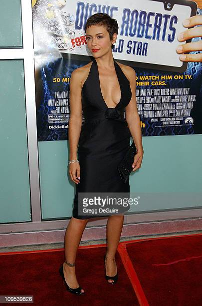 Alyssa Milano during Dickie Roberts Former Child Star Premiere at Arclight Theater in Hollywood California United States