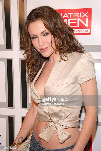 Alyssa Milano during Entertainment Weekly/Matrix Men 2006 Upfront Party at The Manor in New York City New York United States