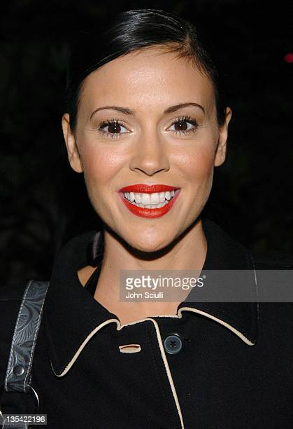 Alyssa Milano during Esquire House Hosts Young Hollywood 'Rock The Vote' Party Arrivals at The Esquire House Los Angeles in Beverly Hills California...