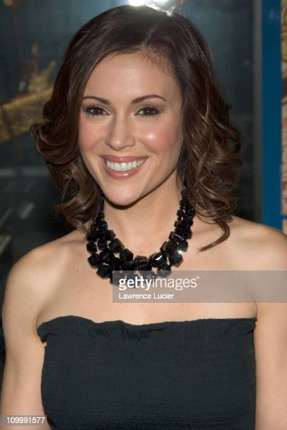 Alyssa Milano during Jennifer Lopez and Marc Anthony Attend the United Nations Gala Awards Dinner at United Nations in New York City New York United...