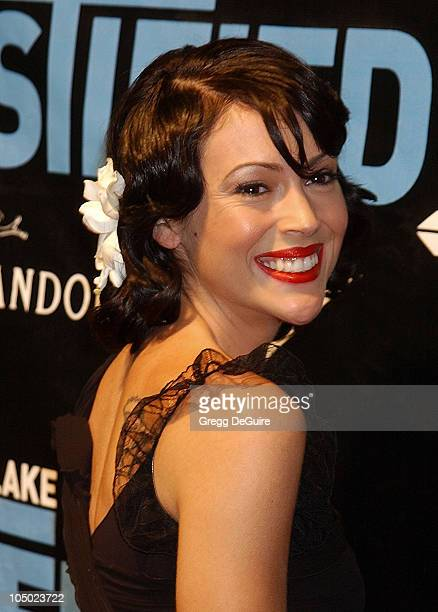 Alyssa Milano during Justin Timberlake Album Release Party For His Debut Solo Album Justified at Smashbox Studios in Culver City California United...