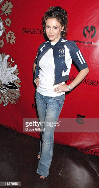 Alyssa Milano during Magic Presents CHOW at TAO Featuring Special Guest Moby at Tao Nightclub at The Venetian in Las Vegas Nevada United States