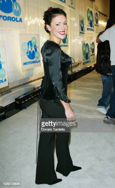 Alyssa Milano during Motorola 4th Annual Holiday Party Arrivals at The Lot in Hollywood California United States
