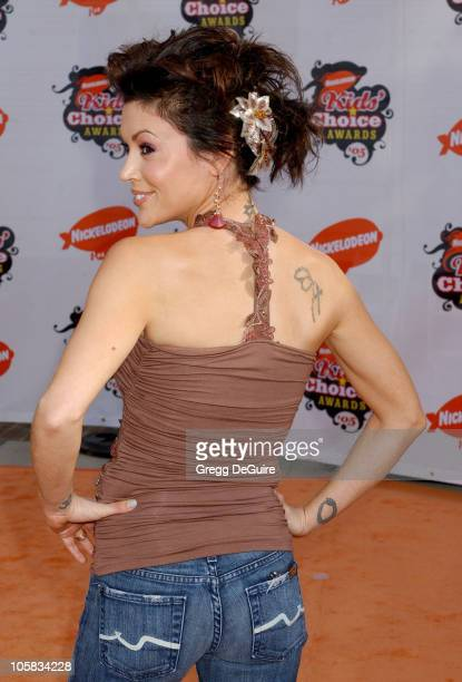 Alyssa Milano during Nickelodeon's 18th Annual Kids Choice Awards Arrivals at UCLA Pauley Pavilion in Westwood California United States