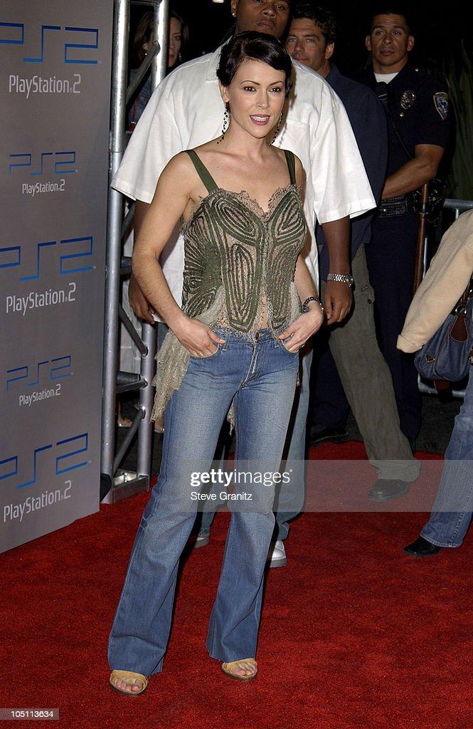 Alyssa Milano during Playstation 2 'Playa Del Playstation' Party at Viceroy Hotel in Santa Monica, California, United States.