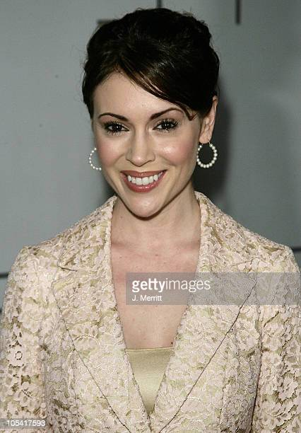 Alyssa Milano during PSP North American Launch Party and Fashion Show at The Pacific Design Center in West Hollywood California United States