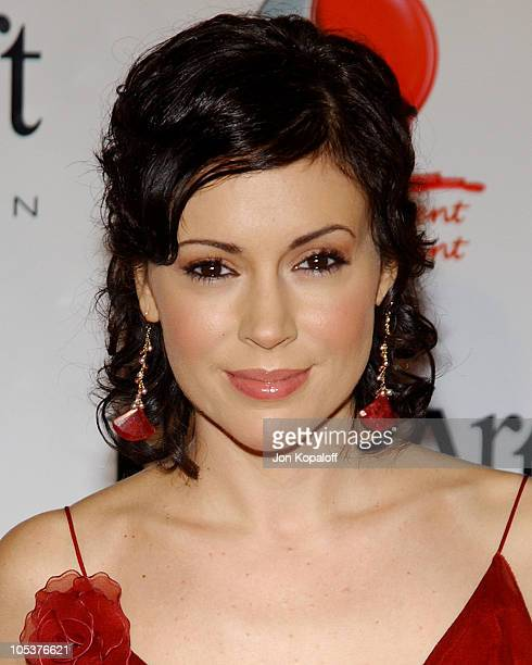 Alyssa Milano during Red Party 2004 Benefiting The Life Through Art Foundation at Shrine Auditorium in Los Angeles California United States