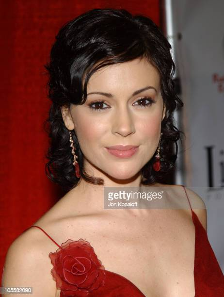 Alyssa Milano during Red Party 2004 Benefiting The Life Through Art Foundation at Shrine Auditorium in Los Angeles, California, United States.
