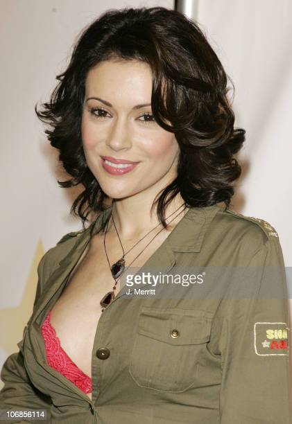 Alyssa Milano during Rockin' the Corps Concert An American Thank You Celebration for US Marines Arrivals at Camp Pendelton in San Diego California...