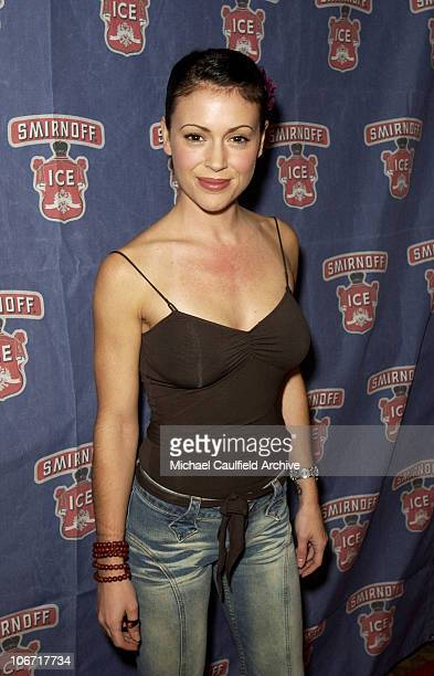 Alyssa Milano during Smirnoff Ice Triple Black Hosts an 80's Roller Skating Holiday Party at the Moonlight Rollerway in Los Angeles at Moonlight...