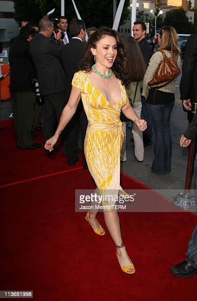 Alyssa Milano during 'The Break Up' Los Angeles Premiere Arrivals at Mann Village Theatre in Westwood California United States