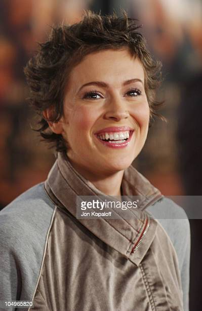 Alyssa Milano during 'The Last Samurai' Los Angeles Premiere at Mann's Village Theater in Westwood California United States