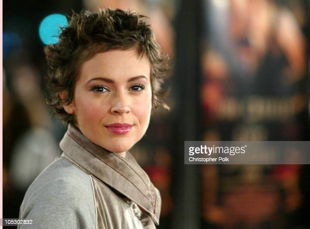 Alyssa Milano during The Last Samurai Los Angeles Premiere at Mann's Village Theater in Westwood California United States