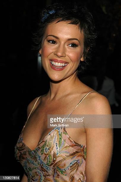 Alyssa Milano during UNICEF Goodwill Gala to Celebrate 50 Years of Celebrity Advocacy Arrivals at Beverly Hilton Hotel in Beverly Hills California...