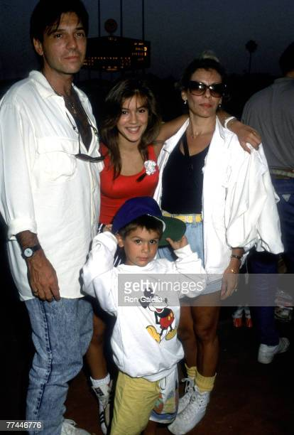 Alyssa Milano Father Tom Milano Mother Lin Milano and Brother Corey Milano