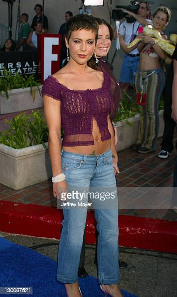 Alyssa Milano Holly Marie Combs during 2003 Teen Choice Awards Arrivals at Universal Amphitheatre in Universal City California United States