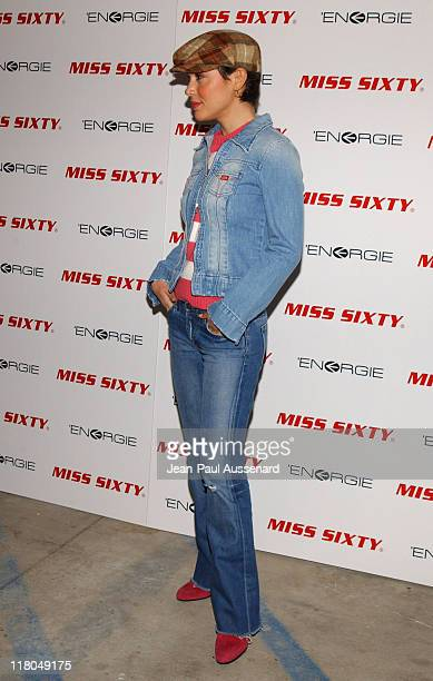 Alyssa Milano in Miss Sixty during Miss Sixty Energie Los Angeles Store Opening Arrivals at Miss Sixty Store in West Hollywood California United...