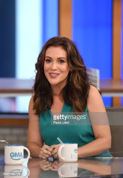 GMA DAY Alyssa Milano is a guest on GMA DAY airing Monday October 15 2018 on Walt Disney Television via Getty Images MILANO