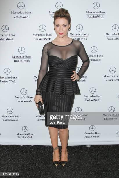 Alyssa Milano is seen around Lincoln Center during Spring 2014 MercedesBenz Fashion Week on September 5 2013 in New York City
