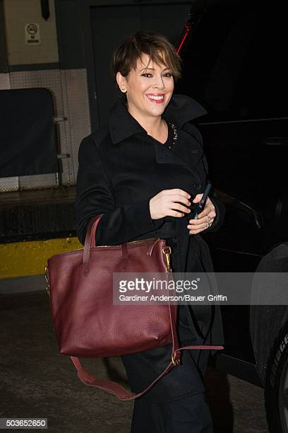 Alyssa Milano is seen on January 06 2016 in New York City