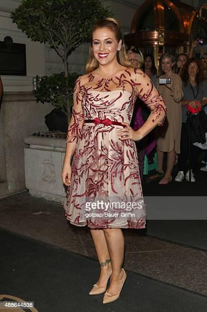 Alyssa Milano is seen on September 16 2015 in New York City
