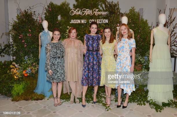 Alyssa Milano Mary Martin Camilla Belle Linda Cardellini and Kate Bosworth attend a luncheon hosted by Marc Metrick President of Saks Fifth Avenue...
