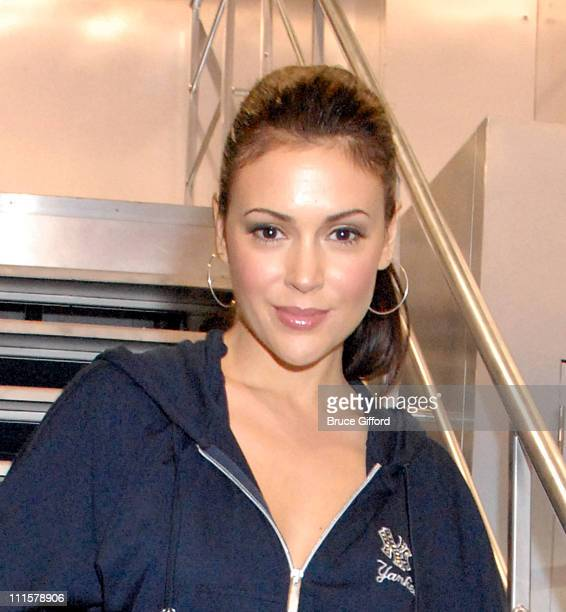 Alyssa Milano wearing 'Touch by Alyssa Milano' during The MAGIC Marketplace Day One at Las Vegas Convention Center And Las Vegas Hilton in Las Vegas...