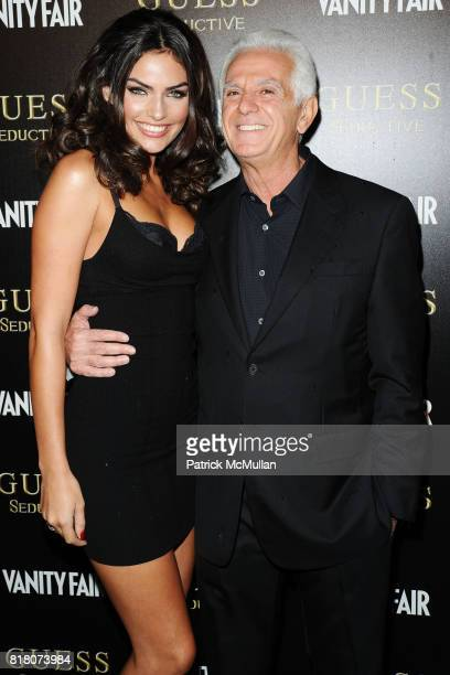 Alyssa Miller and Maurice Marciano attend Vanessa Hudgens Hosts the Worldwide Launch of GUESS Seductive at The Colony on September 29 2010 in Los...