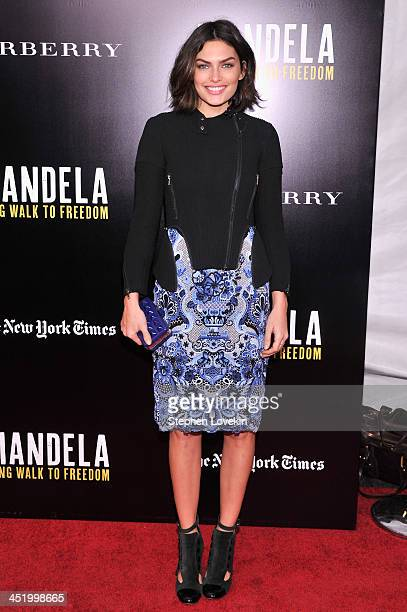 """Alyssa Miller attends a screening of """"Mandela: Long Walk to Freedom"""", hosted by U2, Anna Wintour and Bob & Harvey Weinstein, with Burberry at the..."""