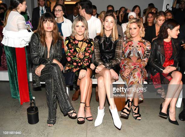 Alyssa Miller Witney Carson Whitney Port and Ashley Tisdale attend the Naeem Khan front Row during New York Fashion Week The Shows at Gallery I at...
