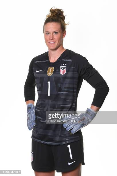 Alyssa Naeher of the USA poses for a portrait during the official FIFA Women's World Cup 2019 portrait session at Best Western Premier Hotel de la...