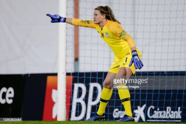 Alyssa Naeher of USA Women during the International Friendly Women match between Portugal v USA at the Estadio Antonio Coimbra da Mota on November 8...