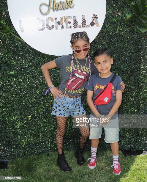 Alyssa Padilla and guests arrive for Clubhouse Kidchella held at Pershing Square on April 6 2019 in Los Angeles California