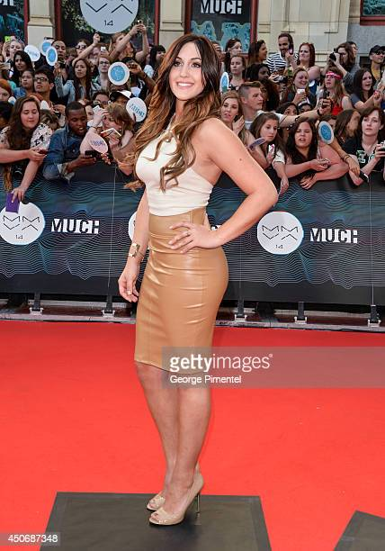 Alyssa Reid arrives at the 2014 MuchMusic Video Awards at MuchMusic HQ on June 15 2014 in Toronto Canada