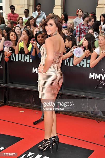 Alyssa Reid arrives on the red carpet at the 22nd Annual MuchMusic Video Awards at the MuchMusic HQ on June 19 2011 in Toronto Canada