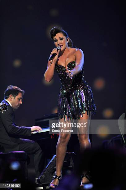 Alyssa Reid on stage during the 2012 JUNO Awards Show at Scotiabank Place on April 1 2012 in Ottawa Canada